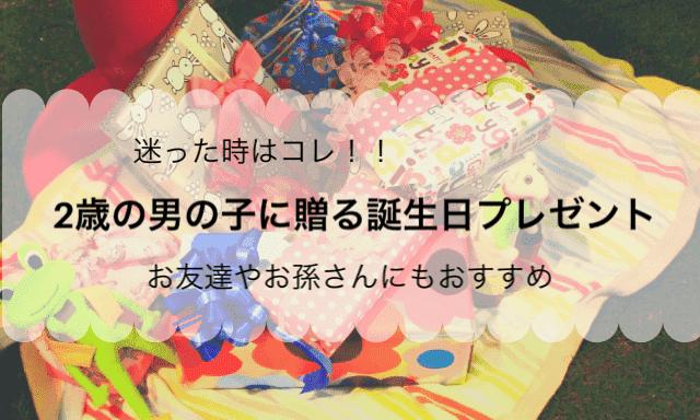 誕生 プレゼント 日 男の子 2 歳